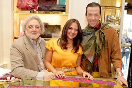 Picture at Neiman Marcus of Carlos Falci, Kate Falci and Derek Warburton as seen in In Style Magazine
